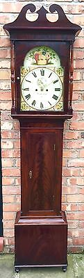 Mahogany Long Case Grandfather Clock By William Ingram Ayr Circa 1830