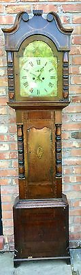 Antique Inlaid Oak & Mahogany Grandfather Longcase Clock E. BUTLER GREAT BRIDGE