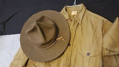 1940's Boy Scout Shirt and hat and 1935 Boy Scouts Song Book