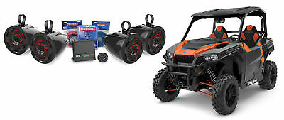"""Polaris General (4) 6.5"""" Tower Speakers w/LED's+Amplifier+Bluetooth Controller"""