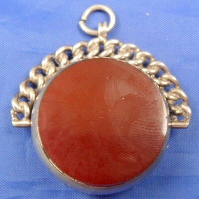 Large Antique Silver, Bloodstone 7 Carnelian Spinning Fob Seal 1894 By Jc