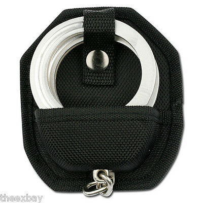 Handcuff Case MOLDED NYLON Hand Cuffs Belt Loop + SNAP Cuff