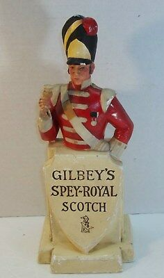 RARE 1950's Vintage GIBLEY'S Spey Royal Scotch Whiskey Back Bar Figure Statue