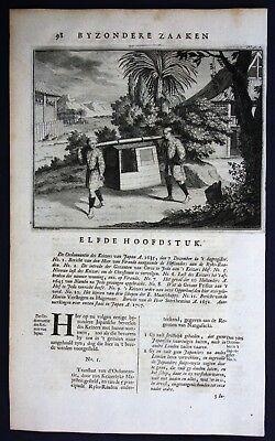 1726 - Japan Nippon litter Asia costume Valentijn engraving