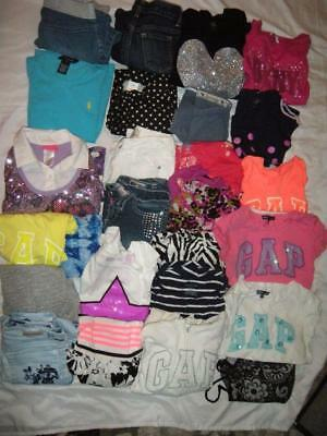 26 Piece Lot of Spring /Summer Girl Clothes sz 7/8 - Gap, Justice, DKNY and more