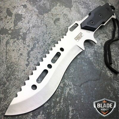 """12"""" Fixed Blade FULL TANG Tactical Combat Hunting Survival Knife w/ Sheath -b"""
