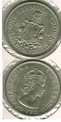 B U 1964 Bermuda Crown