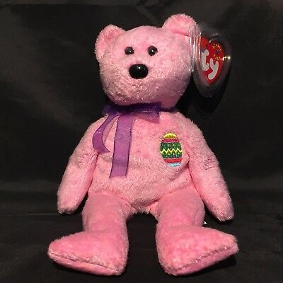 Beanbag Plush * TY Beanie Babies * Eggs * Pink * With Tag