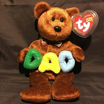 Beanbag Plush * TY Beanie Babies * Dad * With Tag
