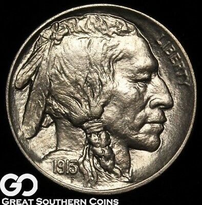 1913-D Buffalo Nickel, Type 1 Denver Mint Date
