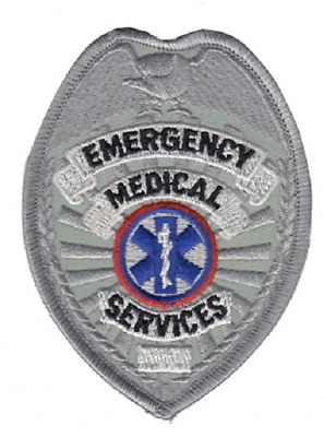 EMS Badge Patch Gold or Silver Color
