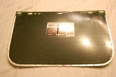 "Anchor Visor / Face Shield Dark Green 9"" x 15-11/2"" #3442-B-DG"