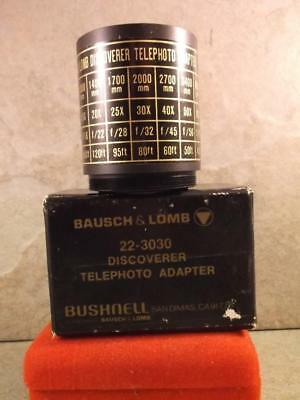Bausch & Lomb 22-3030 Discoverer Telephoto Adapter In Box