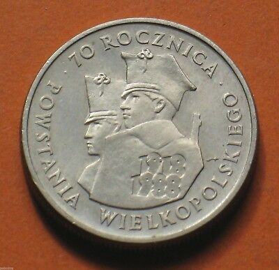 COIN OF POLAND - 70th ANNIVERSARY OF GREATER POLAND UPRISING 1988