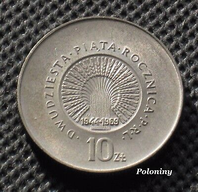 Old Coin Of Poland -20 Years Anniversary Of People's Republic Of Poland 1969