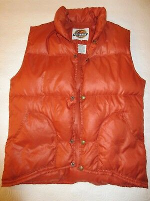 Class 5 orange / rust puffy classic vest Marty Mcfly Back to the Future Size Med