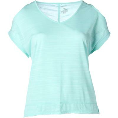 The Balance Collection 3863 Womens Green Yoga T-Shirt Athletic Plus 1X BHFO
