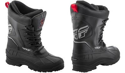 Fly Racing Adult Aurora Insulated Snow Boots Black Size 5-13