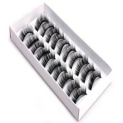 10 Pairs Women Fashion Handmade Thick Long Mink False Eyelashes