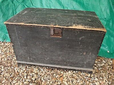Victorian Pine Blanket Box in Original Condition.  Mid 1800's
