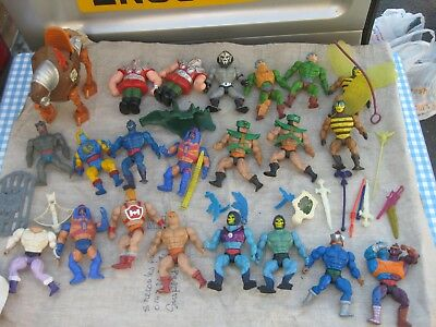 22 X 1980's Vintage Masters Of The Universe Figures He Man/