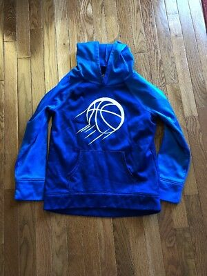 EUC Girl's Justice Blue Basketball Hoops hoodie size 14