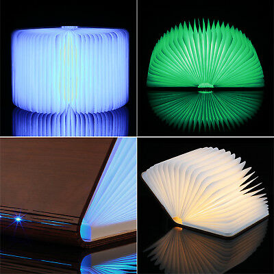 Colorful Rechargeable Battery LED Folding Light Book Style Desk Table Nightlight