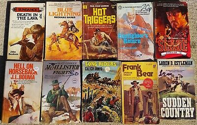 Job lot of 10 x Various Cowboy Western Paperback Books Lot 09