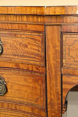 Antique Sheraton satinwood marquetry desk inlaid Georgian gilt leather sideboard
