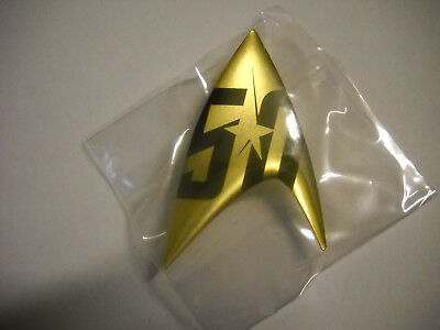 50 Jahre / Years Star Trek Pin / Anstecker, 5 x 3 cm