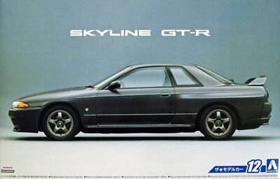 Aoshima 1/24 Scale Model Car Kit Nissan Skyline GT-R R32 w/RB26DETT Engine Parts