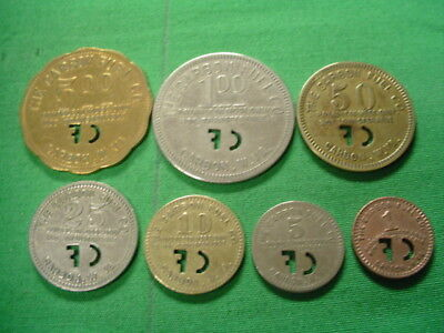 WV Coal Scrip Tokens 7 PC Set-The Carbon Fuel Company-Carbon-WV-Kanawha County