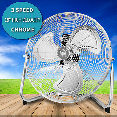 """18"""" High Velocity Floor Standing Electric Gym Cooling Fan Hydroponic 3 Speed"""