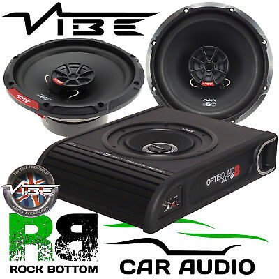 Vauxhall Vivaro 2001 - 2014 Vibe 900W Underseat Sub & Front Door Car Speaker Kit
