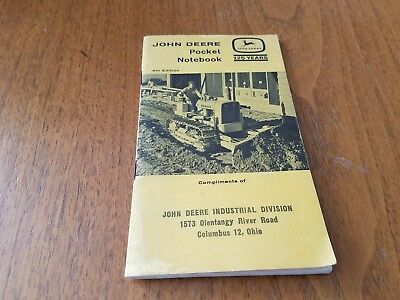 Vintage John Deere Farmer's Pocket Notebook 1962 4th ED Industrial Columbus OH
