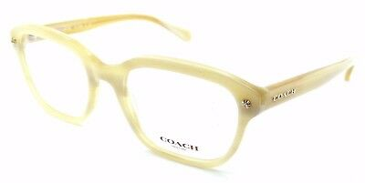 4fead7f4fd New Authentic Coach Rx Eyeglasses Frames HC 6094 5423 54x19 Ivory Horn