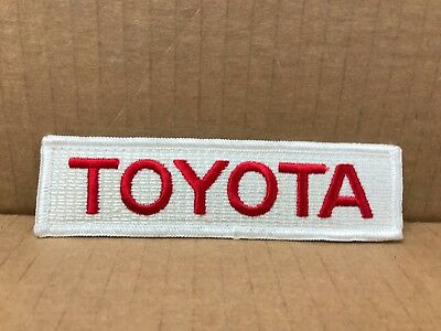 "Embroidered Toyota Jacket Patch 5"" X 1.25"""