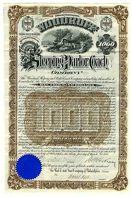 Woodruff Sleeping and Parlor Coach Co., 1888 Issued Bond