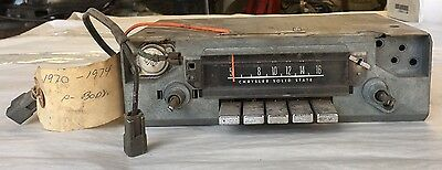 1967 1968 1969 1970 1971 1972 Dart GTS Duster 340 Cuda Factory AM Radio