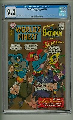 World's Finest 168 (CGC 9.2) White pgs; Composite Superman appearance (c#17632)