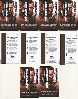 10--MAYWEATHER-Champion 50-0 vs McGREGOR------MGM GRAND---Las Vegas,NV--Room key