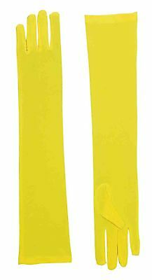 Yellow Long Gloves Opera Length Gloves Adult Size