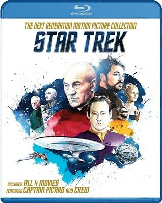 STAR TREK THE NEXT GENERATION MOTION PICTURE COLLECTION New Blu-ray All 4 Films