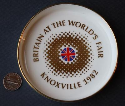 1982 Knoxville,Tennessee World's Fair Royal Doulton British Pavilion ashtray!
