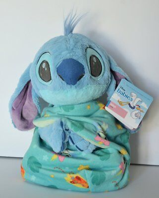 Disney Parks Baby Stitch in a Blanket Pouch Plush Lilo and Stitch NWT Ships FREE