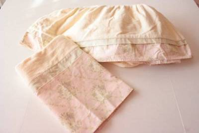 Wendy Bee Yellow Light Peach Crib Skirt Valance 100% Cotton Baby Accessories B5
