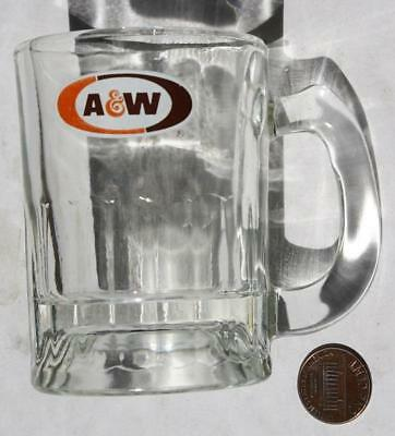 1970-80s Era A&W Root Beer glass baby root beer stein-with modern oval logo # 5