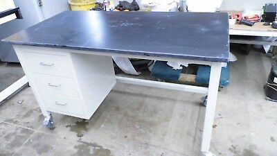 "30"" X 60"" X 36"" Tall Composite Top Laboratory Work Bench/table With 3 Drawers"
