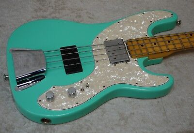 1971 USA Fender Tele Telecaster bass in seafoam green with hardshell case