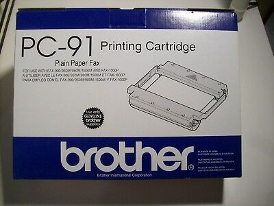 Brother PC-91 Printing Cartridge for Plain Paper Fax New in Box